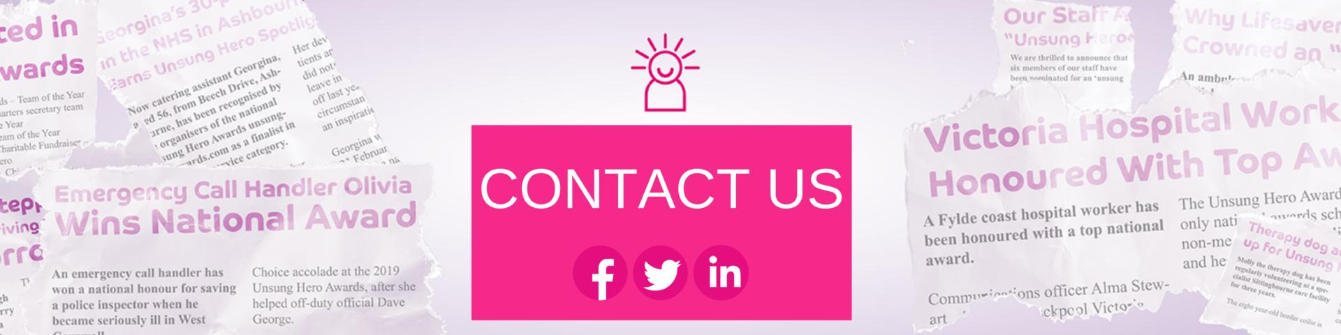 Contact | Unsung Hero Awards
